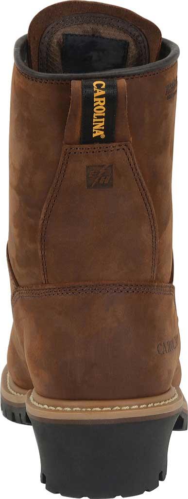 "Men's Carolina 8"" Plain Toe Logger Waterproof Boot, , large, image 3"