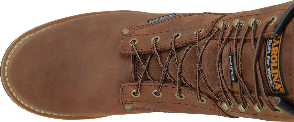 "Men's Carolina 8"" Plain Toe Logger Waterproof Boot, , large, image 4"