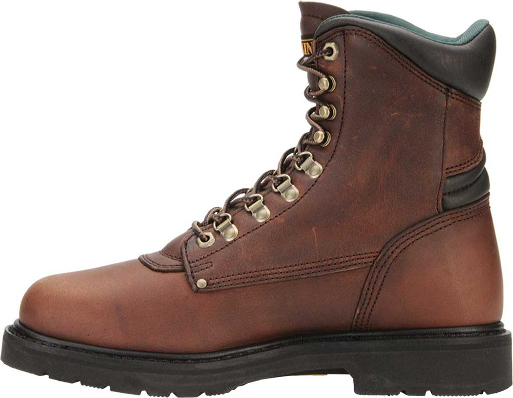 "Men's Carolina Domestic 8"" Plain Toe Steel Toe Boot 1809, Amber Gold Leather, large, image 2"