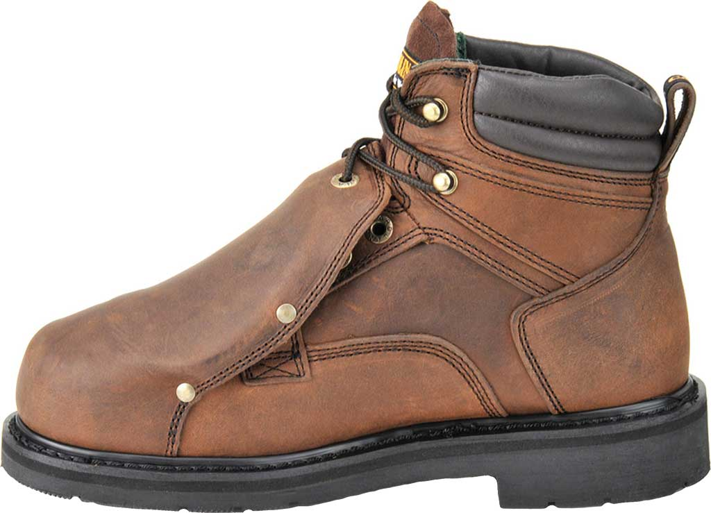 "Men's Carolina 6"" Metatarsal Steel Toe 599 Boot, Dark Brown Leather, large, image 2"