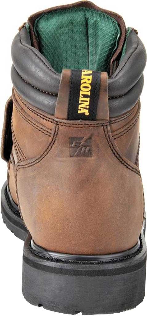 "Men's Carolina 6"" Metatarsal Steel Toe 599 Boot, Dark Brown Leather, large, image 3"