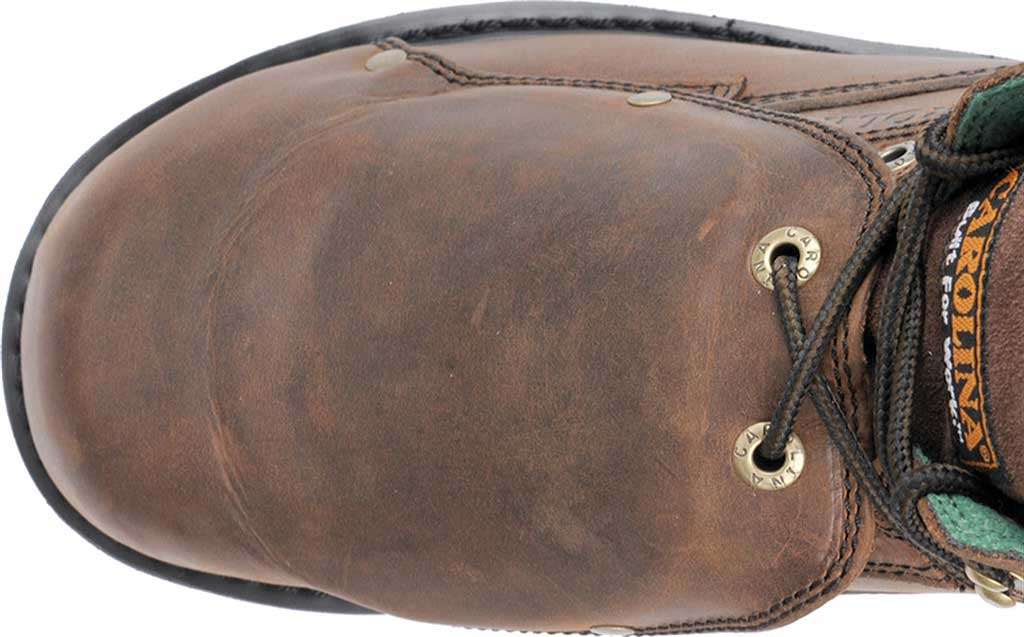 "Men's Carolina 6"" Metatarsal Steel Toe 599 Boot, Dark Brown Leather, large, image 4"