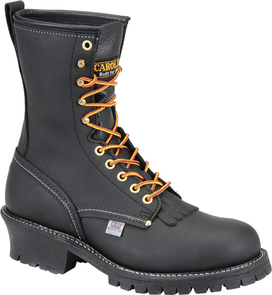 "Men's Carolina Domestic 9"" EH Logger Steel Toe 1922 Boot, Black Leather, large, image 1"