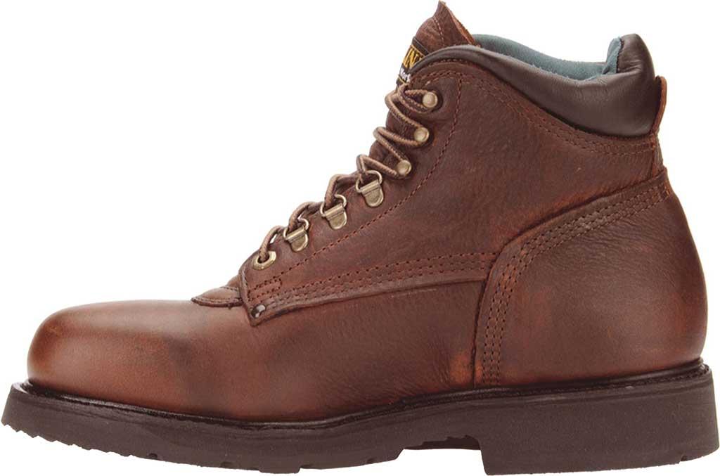"Men's Carolina Domestic 6"" Plain Toe Steel Toe Boot 1309, Amber Gold Leather, large, image 2"