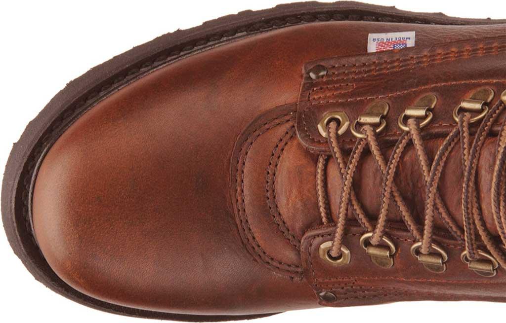 "Men's Carolina Domestic 6"" Plain Toe Steel Toe Boot 1309, Amber Gold Leather, large, image 4"