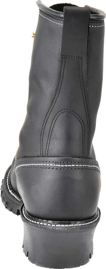 """Men's Carolina Domestic 9"""" EH Plain Toe Logger 922, Black Leather, large, image 3"""