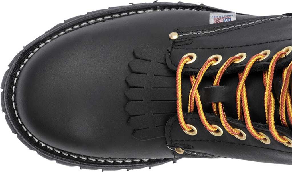 """Men's Carolina Domestic 9"""" EH Plain Toe Logger 922, Black Leather, large, image 4"""