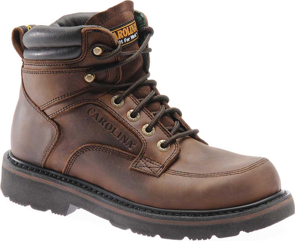 "Men's Carolina 6"" Broad Toe Steel Toe 1399 Boot, Dark Brown Leather, large, image 1"
