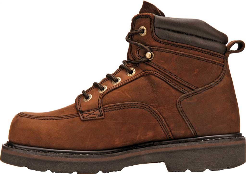 "Men's Carolina 6"" Broad Toe Steel Toe 1399 Boot, Dark Brown Leather, large, image 2"