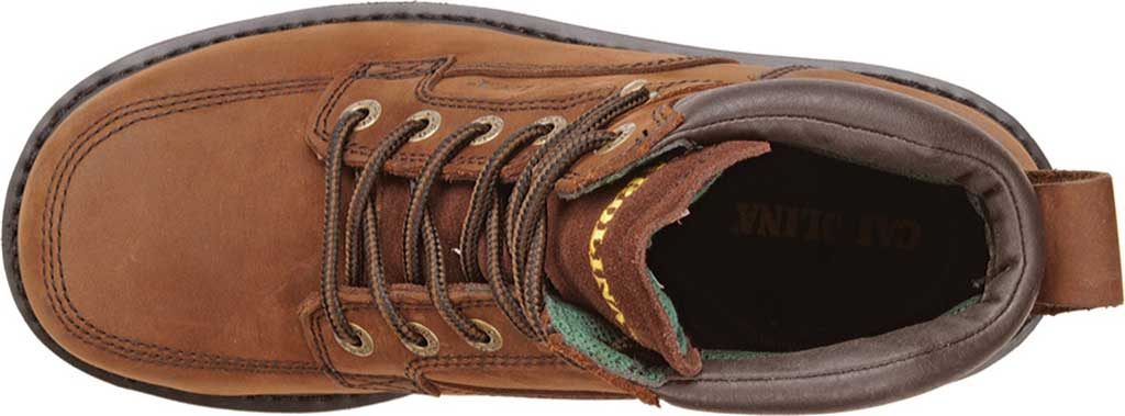 "Men's Carolina 6"" Broad Toe Steel Toe 1399 Boot, Dark Brown Leather, large, image 4"