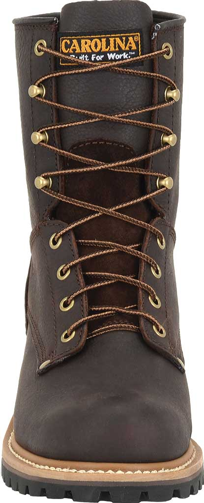 """Men's Carolina 8"""" Plain Toe Logger 821, Briar Leather, large, image 3"""