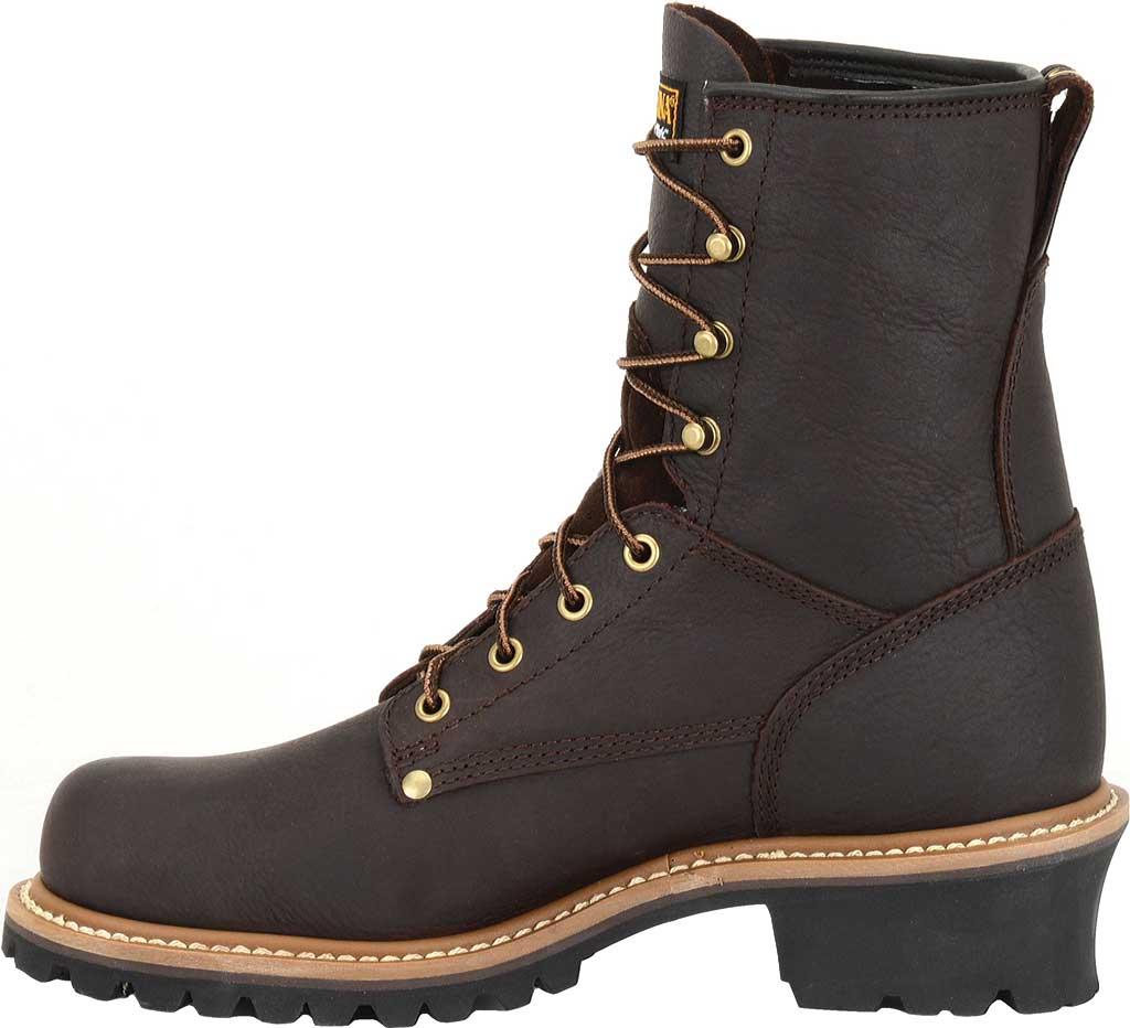 "Men's Carolina 8"" Plain Toe Logger Steel Toe 1821 Boot, Briar Leather, large, image 2"