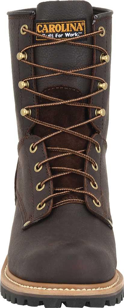 "Men's Carolina 8"" Plain Toe Logger Steel Toe 1821 Boot, Briar Leather, large, image 3"