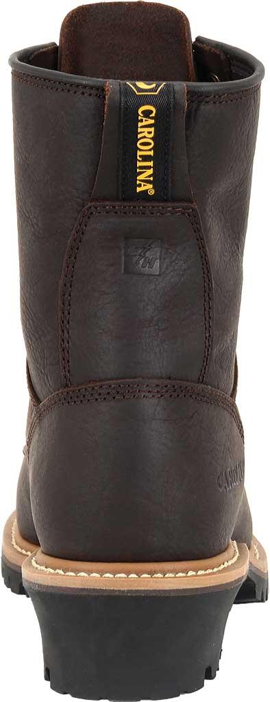 "Men's Carolina 8"" Plain Toe Logger Steel Toe 1821 Boot, Briar Leather, large, image 4"