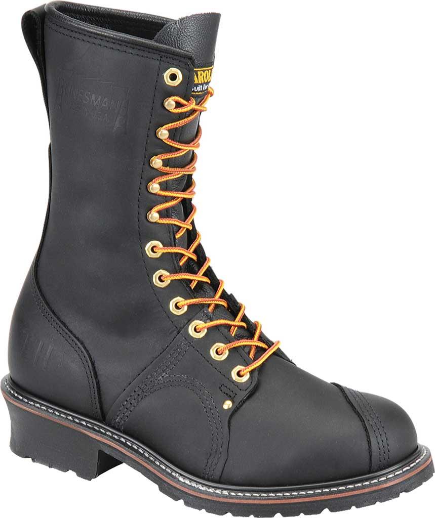 "Men's Carolina Domestic 10"" Linesman Steel Toe Boot 1905, Black Leather, large, image 1"