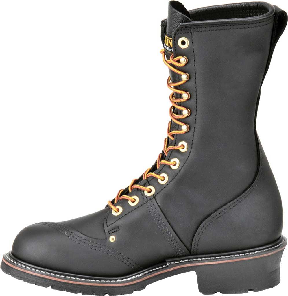 "Men's Carolina Domestic 10"" Linesman Steel Toe Boot 1905, Black Leather, large, image 2"