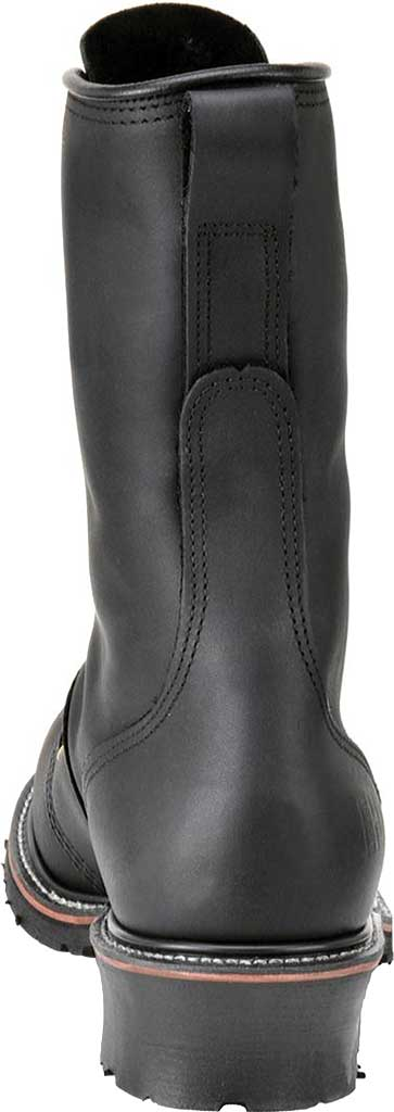 "Men's Carolina Domestic 10"" Linesman Steel Toe Boot 1905, Black Leather, large, image 3"