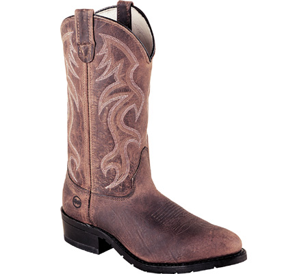 """Men's Double H 12"""" AG7 Work Western Safety Toe, Light Brown Full Grain Leather, large, image 1"""