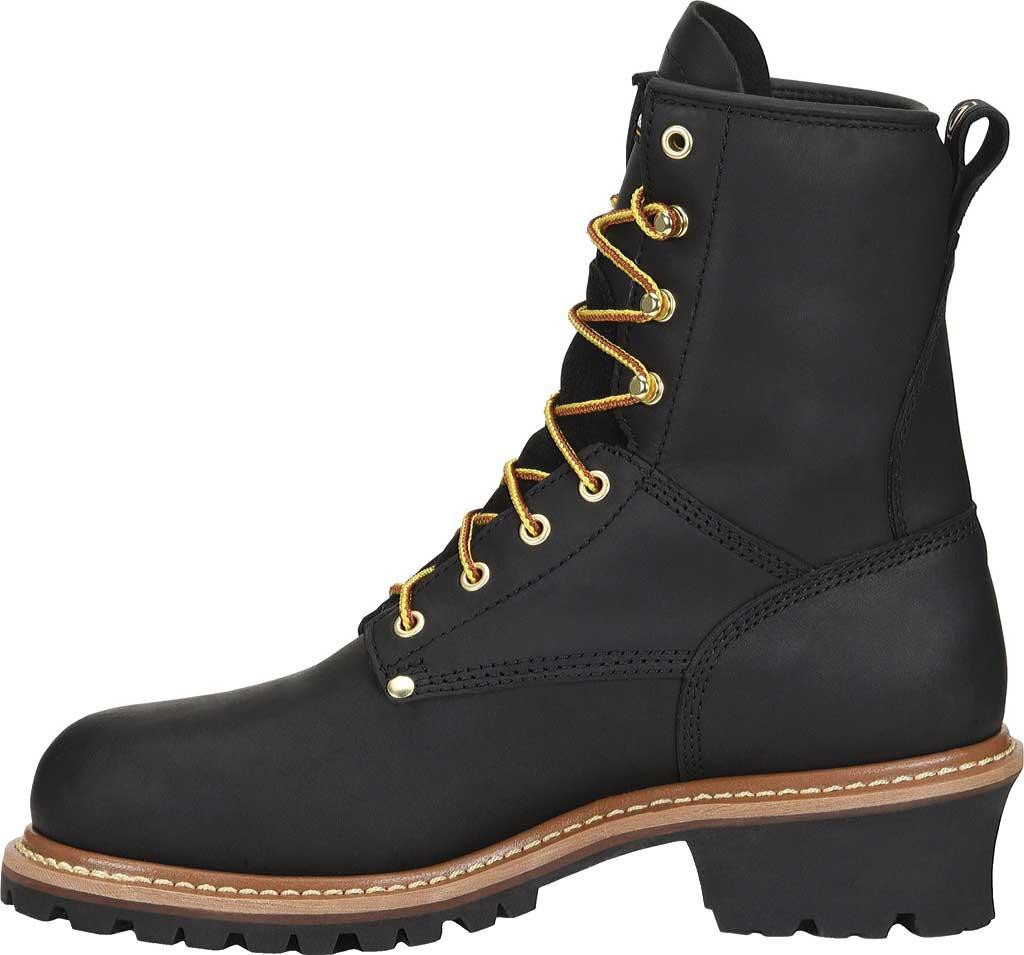 Men's Carolina ST 600G Plain Toe Logger 8, Black Leather, large, image 2
