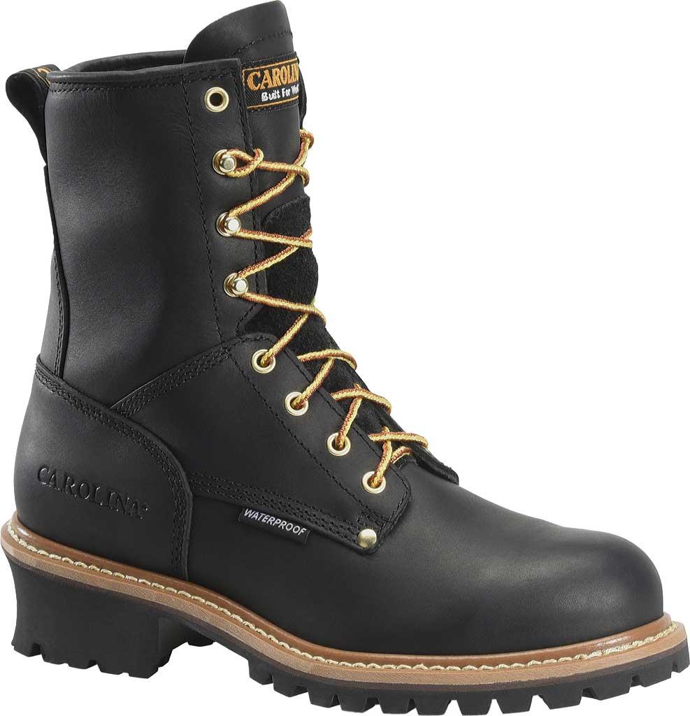 """Men's Carolina 8"""" Steel Toe Plain Toe Logger, , large, image 1"""
