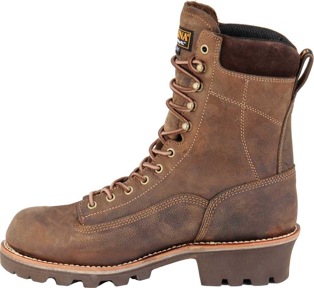"Men's Carolina 8"" Insulated Waterproof CT Logger CA7521 Boot, Medium Brown, large, image 2"