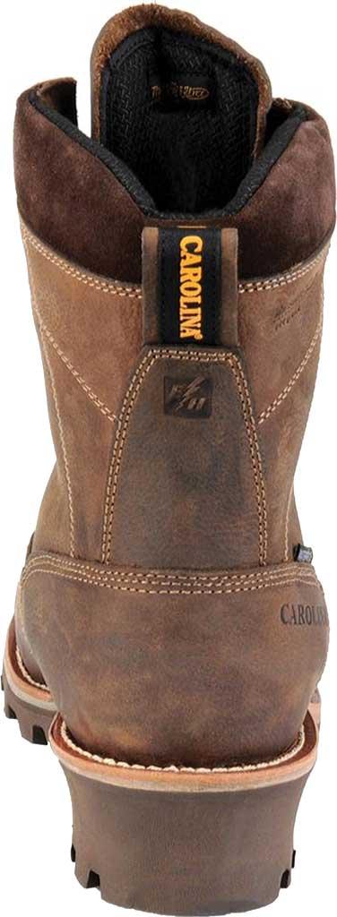 "Men's Carolina 8"" Insulated Waterproof CT Logger CA7521 Boot, Medium Brown, large, image 3"