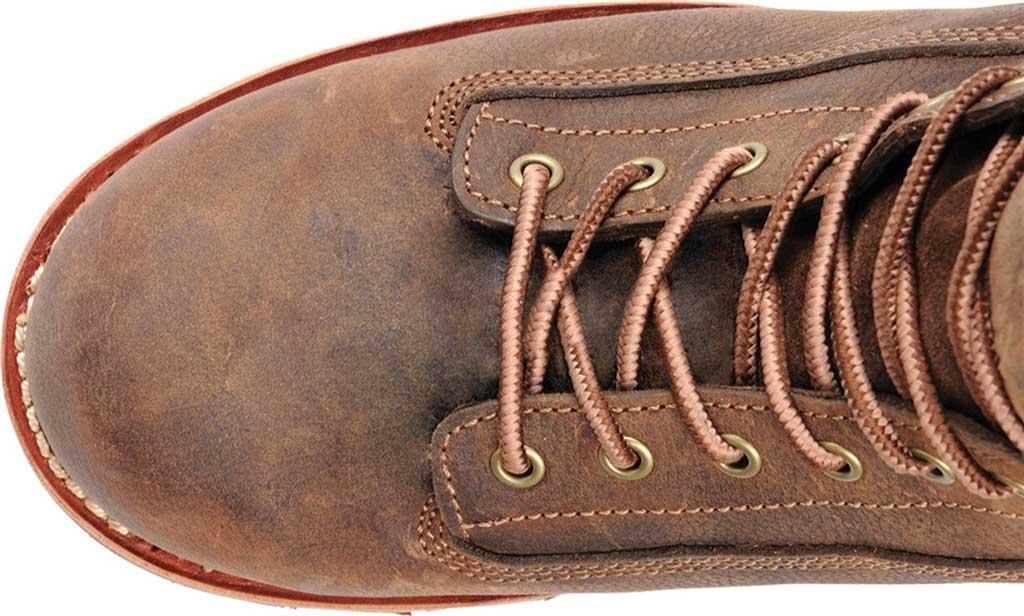 "Men's Carolina 8"" Insulated Waterproof CT Logger CA7521 Boot, Medium Brown, large, image 4"