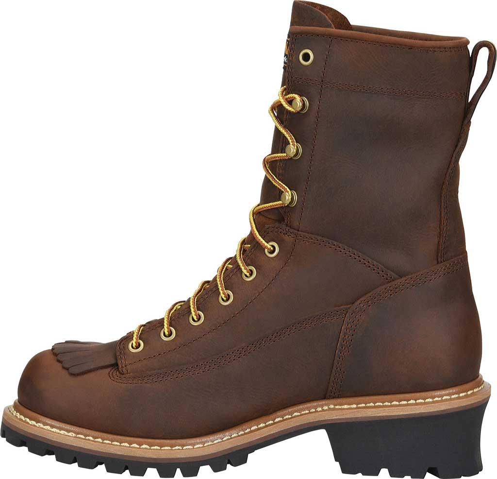 "Men's Carolina 8"" Waterproof Steel Toe Logger CA9824, Dark Brown, large, image 2"