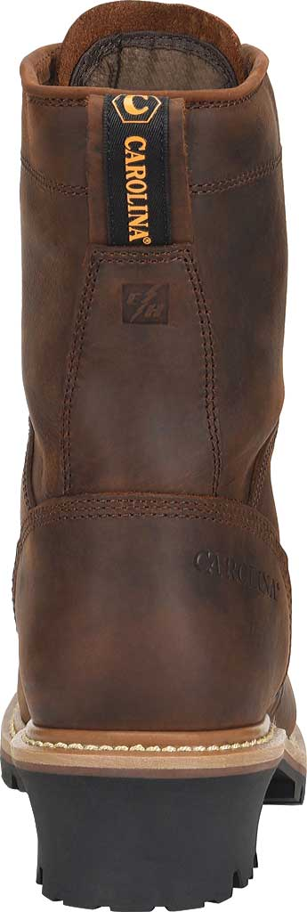 "Men's Carolina 8"" Waterproof Steel Toe Logger CA9824, Dark Brown, large, image 3"