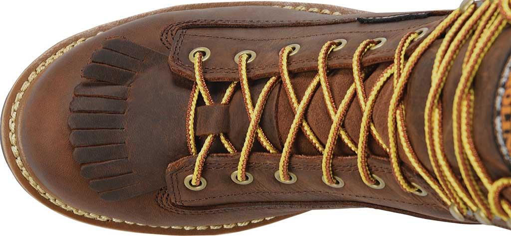 "Men's Carolina 8"" Waterproof Steel Toe Logger CA9824, Dark Brown, large, image 4"