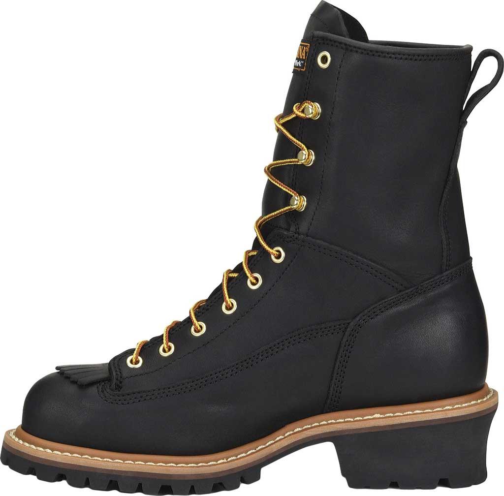 "Men's Carolina 8"" Waterproof Steel Toe Logger Boot CA9825, Black, large, image 2"