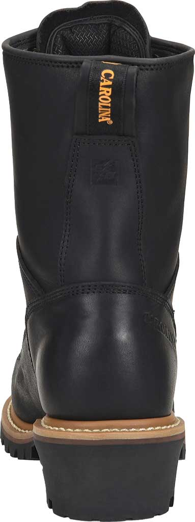 "Men's Carolina 8"" Waterproof Steel Toe Logger Boot CA9825, Black, large, image 3"