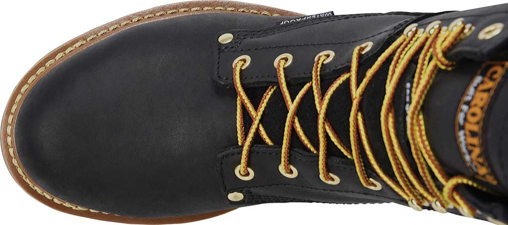 "Men's Carolina 8"" Waterproof Steel Toe Logger Boot CA9825, Black, large, image 4"