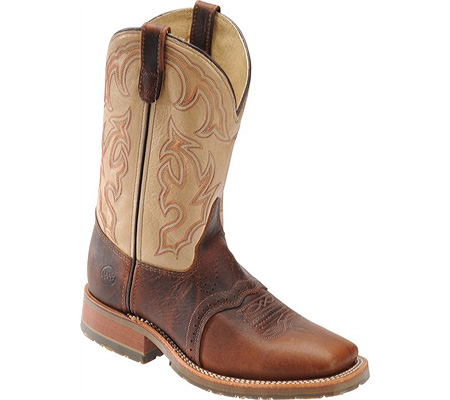 """Men's Double H 11"""" Domestic Wide Square Toe ICE Roper, Briar Bison/Echo Taupe, large, image 1"""