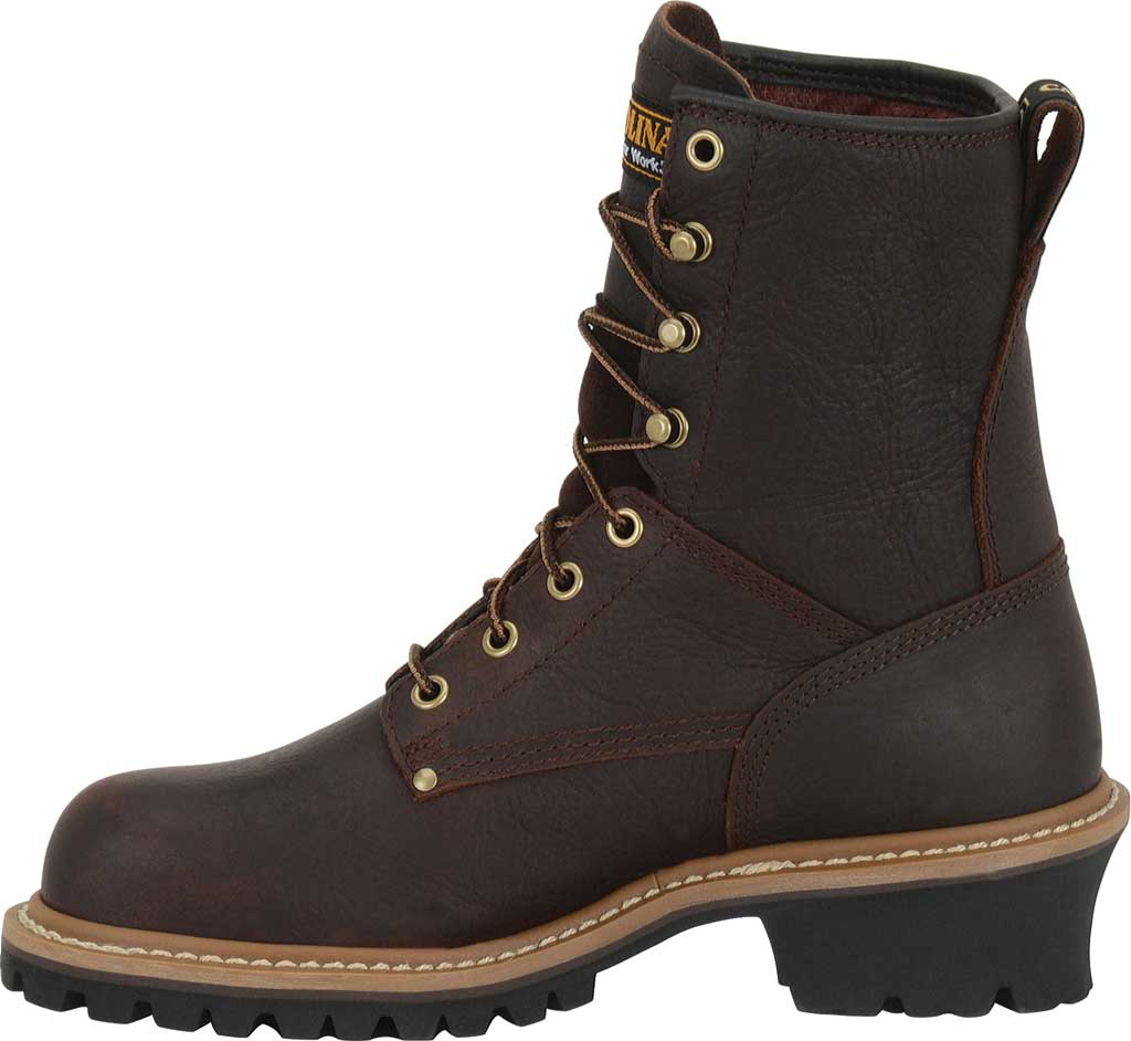 "Women's Carolina 8"" Steel Toe Logger CA1421 Boot, Dark Brown Soggy Leather, large, image 2"