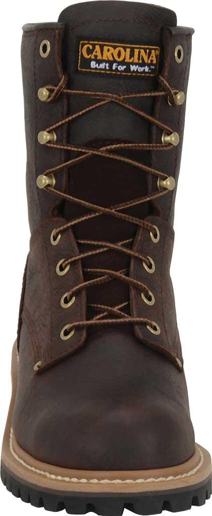 "Women's Carolina 8"" Steel Toe Logger CA1421 Boot, Dark Brown Soggy Leather, large, image 3"