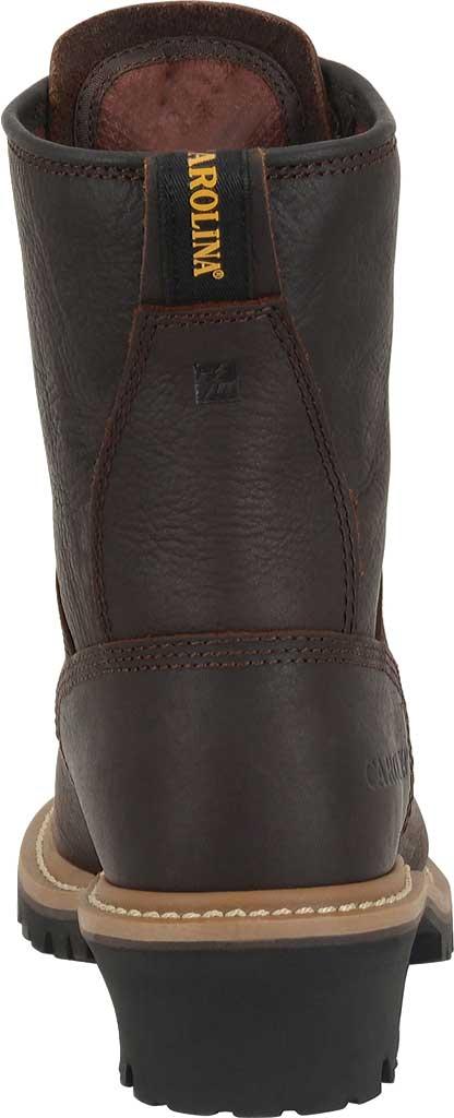 "Women's Carolina 8"" Steel Toe Logger CA1421 Boot, Dark Brown Soggy Leather, large, image 4"