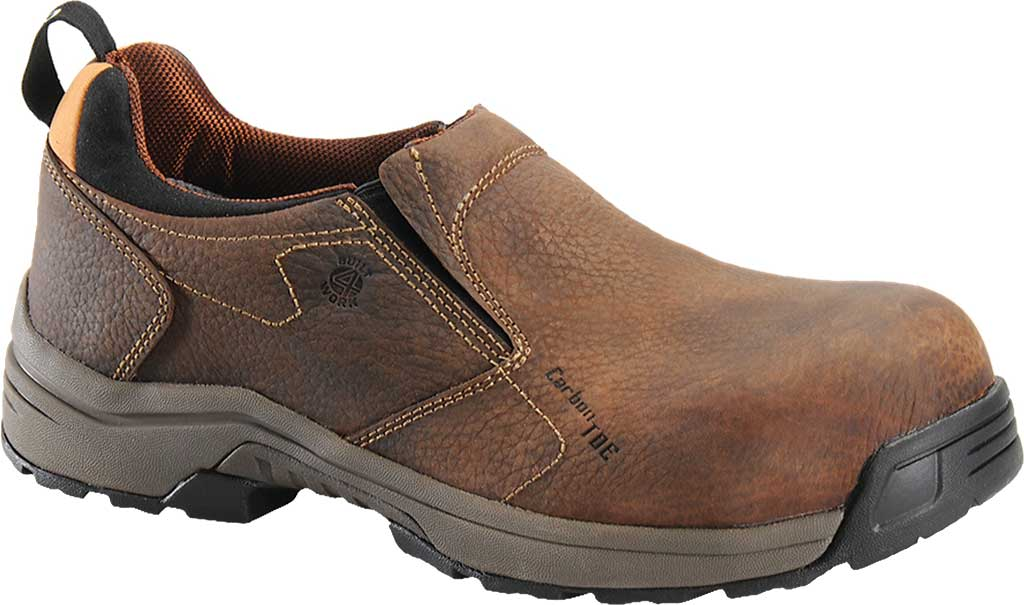 Men's Carolina Lytning Carbon Composite ESD Double-Gore Slip-On, Brown Full Grain Leather, large, image 1