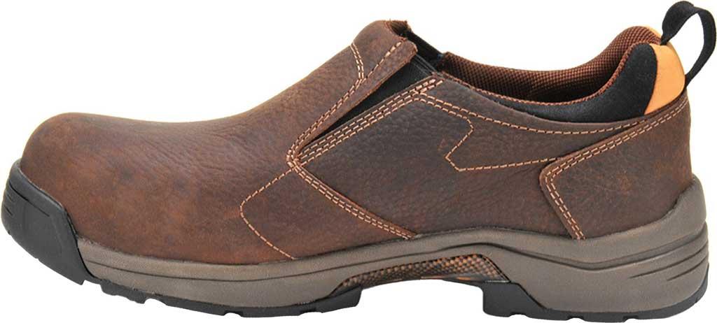 Men's Carolina Lytning Carbon Composite ESD Double-Gore Slip-On, Brown Full Grain Leather, large, image 2
