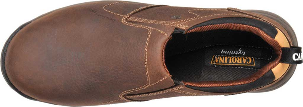 Men's Carolina Lytning Carbon Composite ESD Double-Gore Slip-On, Brown Full Grain Leather, large, image 4