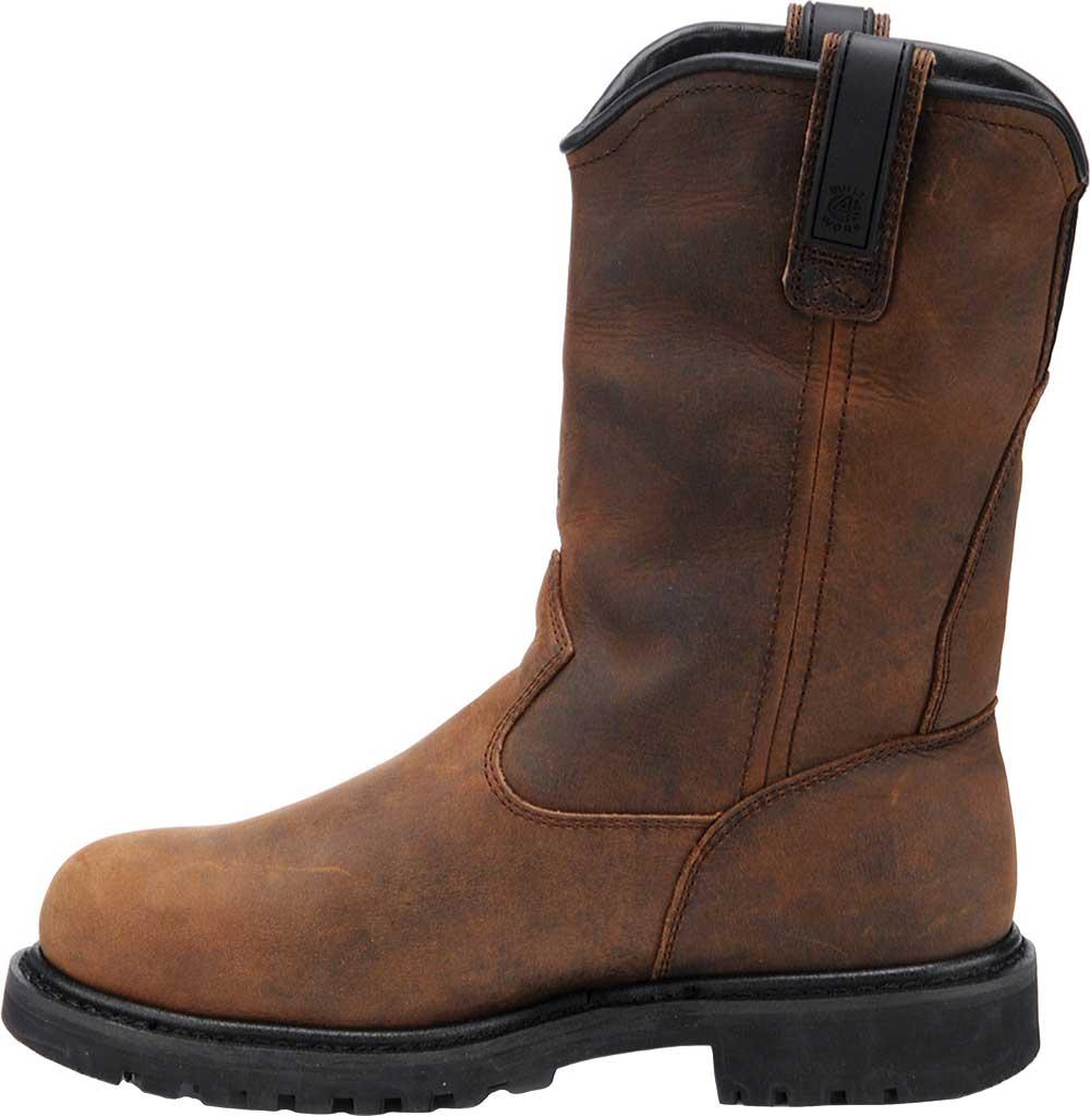 Men's Carolina Waterproof Aluminum Toe Metguard Wellington, Dark Brown Crazy Horse Leather, large, image 2