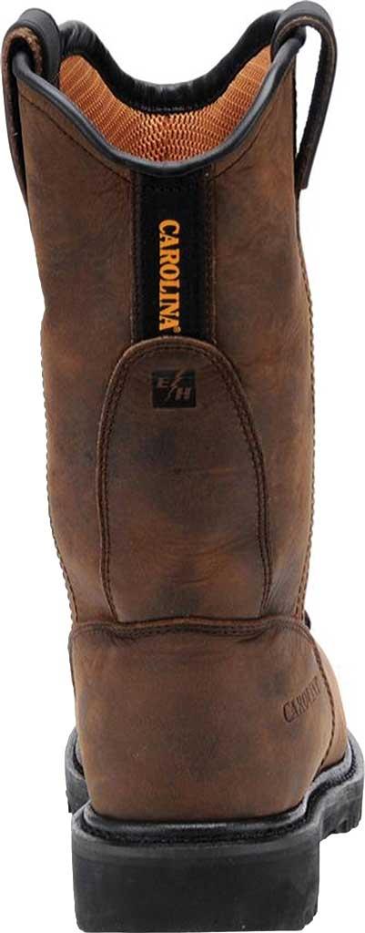 Men's Carolina Waterproof Aluminum Toe Metguard Wellington, Dark Brown Crazy Horse Leather, large, image 3