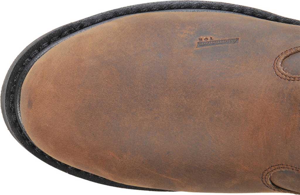 Men's Carolina Waterproof Aluminum Toe Metguard Wellington, Dark Brown Crazy Horse Leather, large, image 4