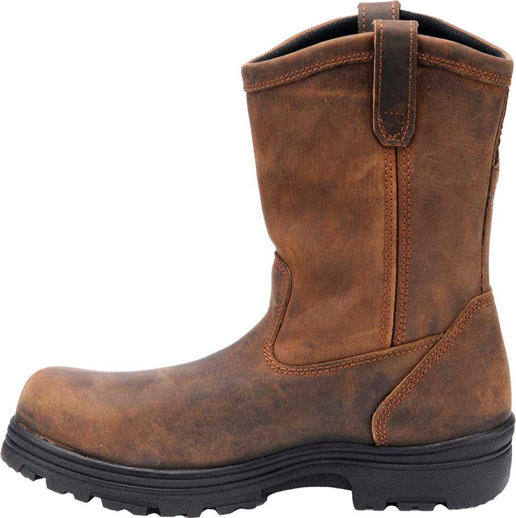 Men's Carolina Waterproof Composite Toe Wellington, Dark Brown Crazy Horse Leather, large, image 2