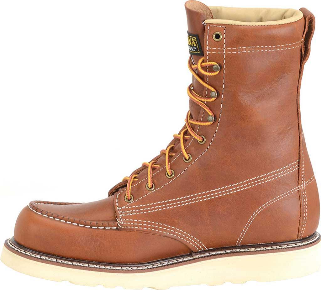 "Men's Carolina 8"" Domestic Steel Moc Toe Wedge Work Boot, Dark Brown Leather, large, image 2"