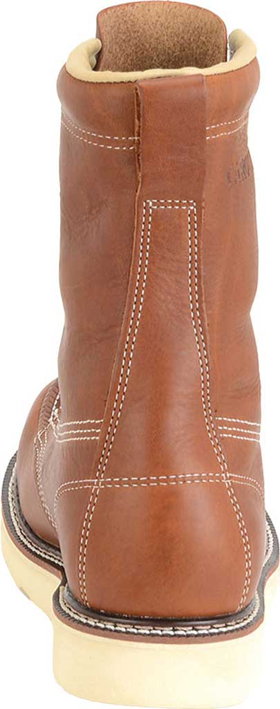 "Men's Carolina 8"" Domestic Steel Moc Toe Wedge Work Boot, Dark Brown Leather, large, image 3"