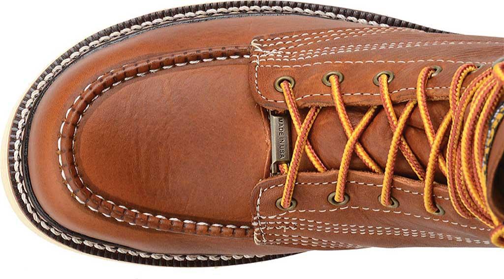"Men's Carolina 8"" Domestic Steel Moc Toe Wedge Work Boot, Dark Brown Leather, large, image 4"