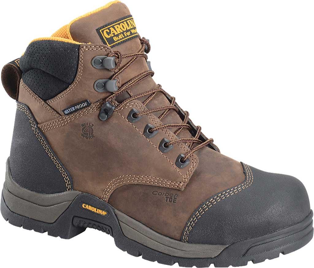 "Men's Carolina 6"" ESD Waterproof Composite Broad Toe Work Boot, Dark Brown Leather, large, image 1"