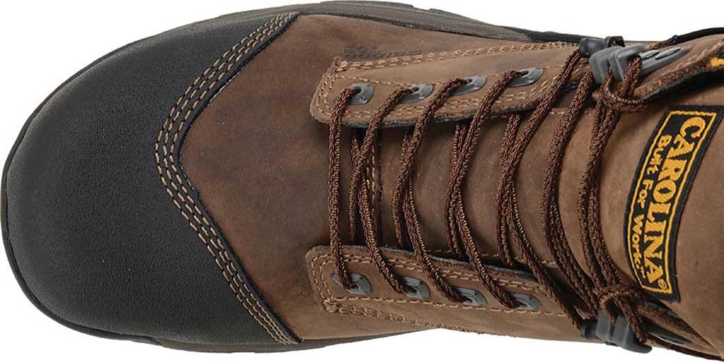 "Men's Carolina 6"" ESD Waterproof Composite Broad Toe Work Boot, Dark Brown Leather, large, image 4"