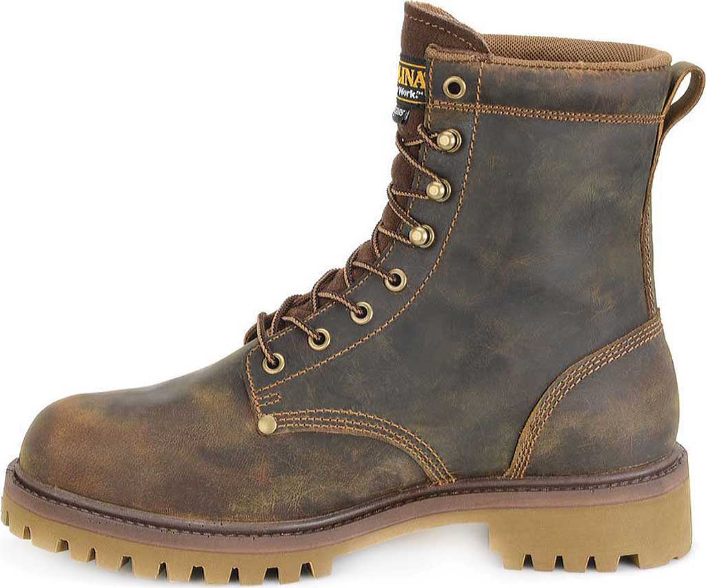 "Men's Carolina 8"" Waterproof 400G Insulated Steel Toe Work Boot, Medium Brown Leather, large, image 2"